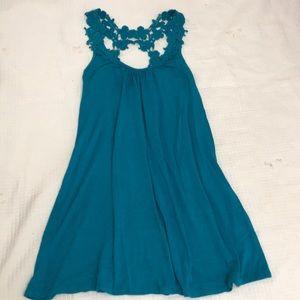 Teal blue dress (size s)